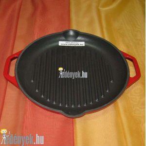 Öntöttvas grillserpenyő zománcozott 28 cm
