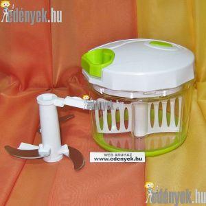 Zöldség, gyümölcs aprító és keverő kézi centrifuga