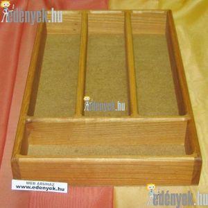 Fa evőeszköztartó fiókba 4 rekeszes 36×23×5 cm