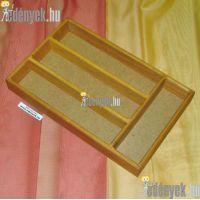 Fa evőeszköztartó, evőeszköz-tároló