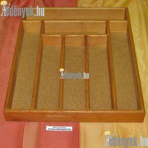 Fa evőeszköztartó fiókba 7 rekeszes 44×36×5 cm