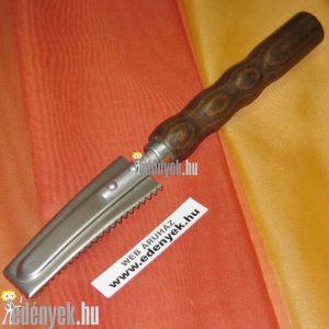 Halpucoló kés harcsafogazattal