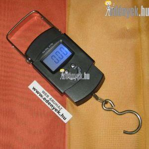 Digitális kézi mérleg, poggyászmérleg 50 kg-ig
