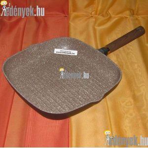 Gránitbevonatos indukciós grillserpenyő 28×28 cm