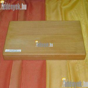 Fa vágódeszka, hentes vágódeszka 35×26×4 cm